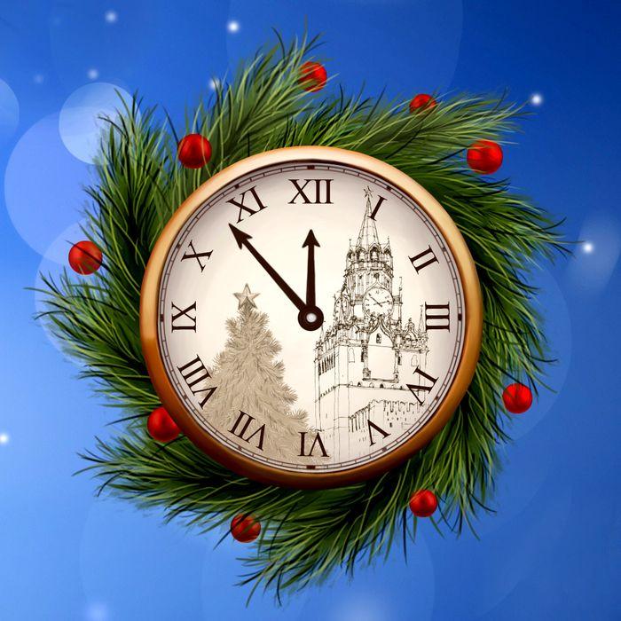 рождественские картинки на часы