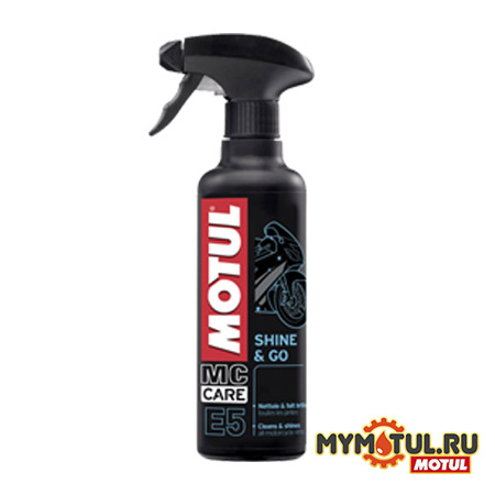 Полироль для пластика MOTUL E5 Shine&Go Silicon Clean для автомобилей от mymotul.ru