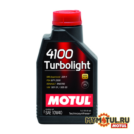 MOTUL 4100 Turbolight 10W40 от mymotul.ru