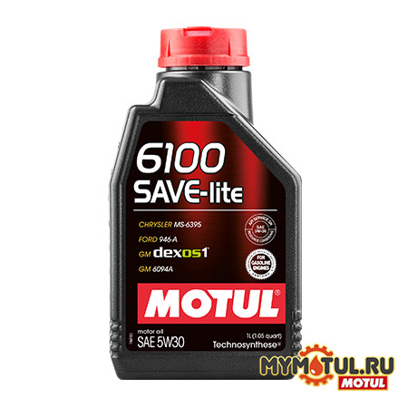 MOTUL 6100 SAVE-Lite 5W30 от mymotul.ru